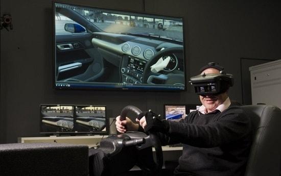 virtual reality car