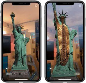 app de realidad aumentada Estatua de la libertad estructura
