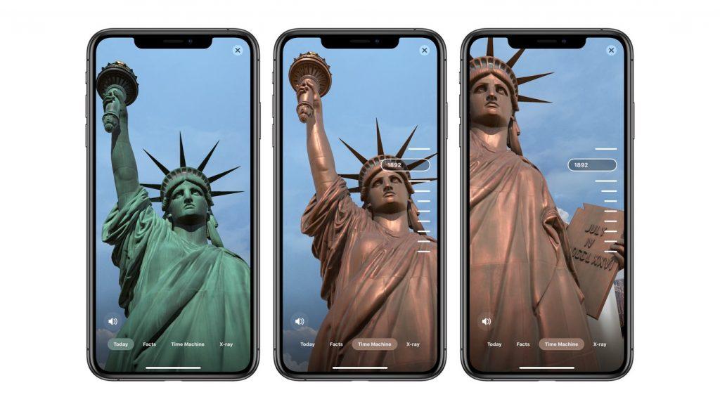 app de realidad aumentada Estatua de la libertad historia