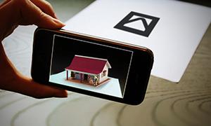 Casa vista con realidad aumentada