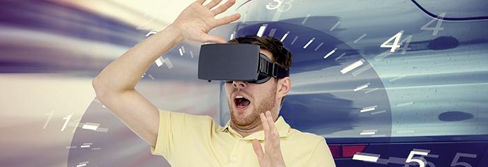 alumno superando sus miedos con la realidad virtual
