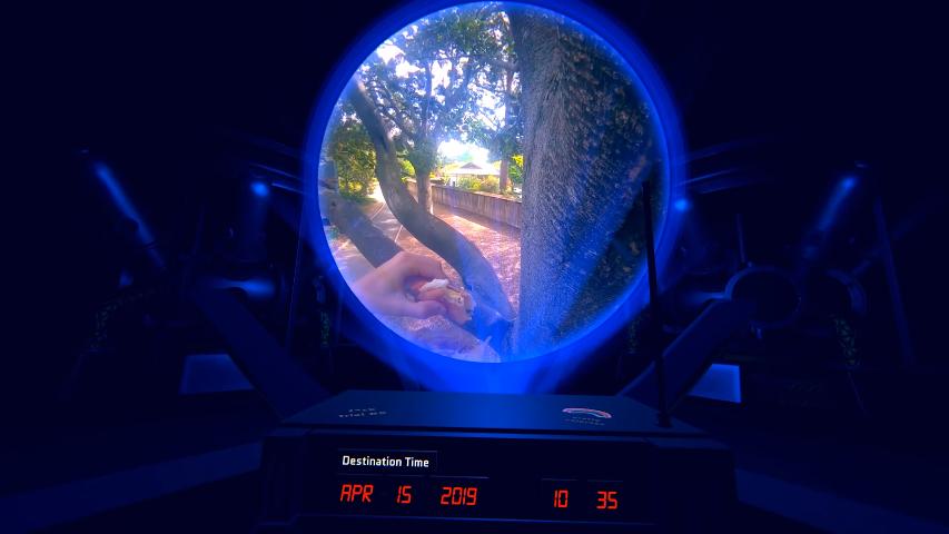 máquina del tiempo realidad virtual