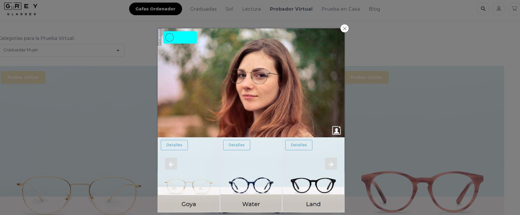probador virtual gafas realidad aumentada