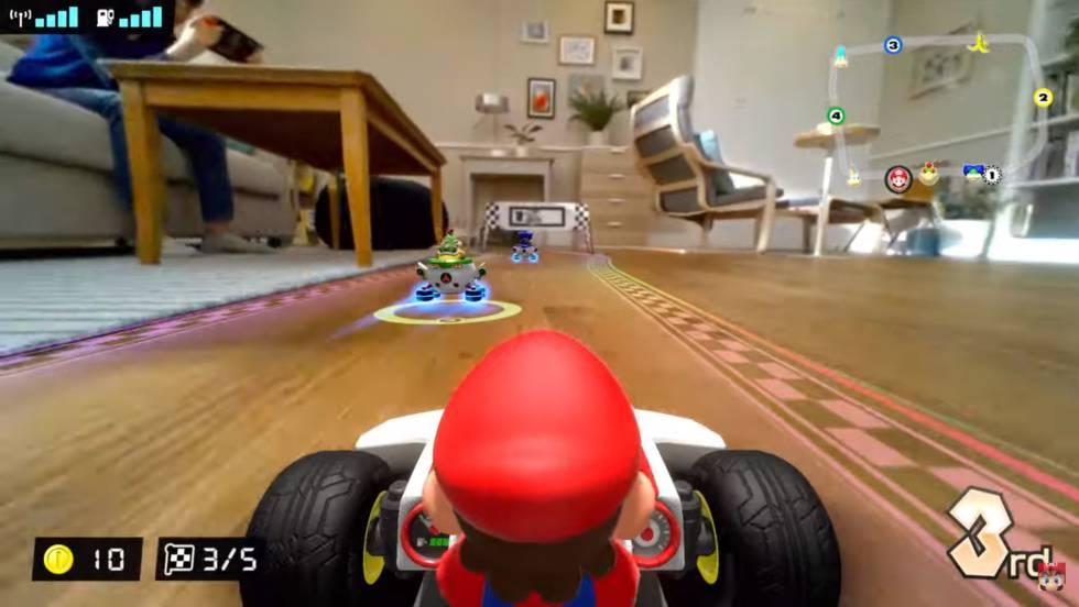 Videojuego de Mario Kart Live