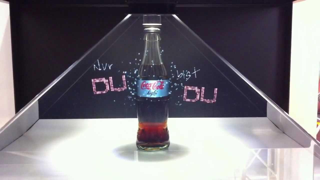Publicidad con hologramas: Ejemplo de holograma de Coca-Cola